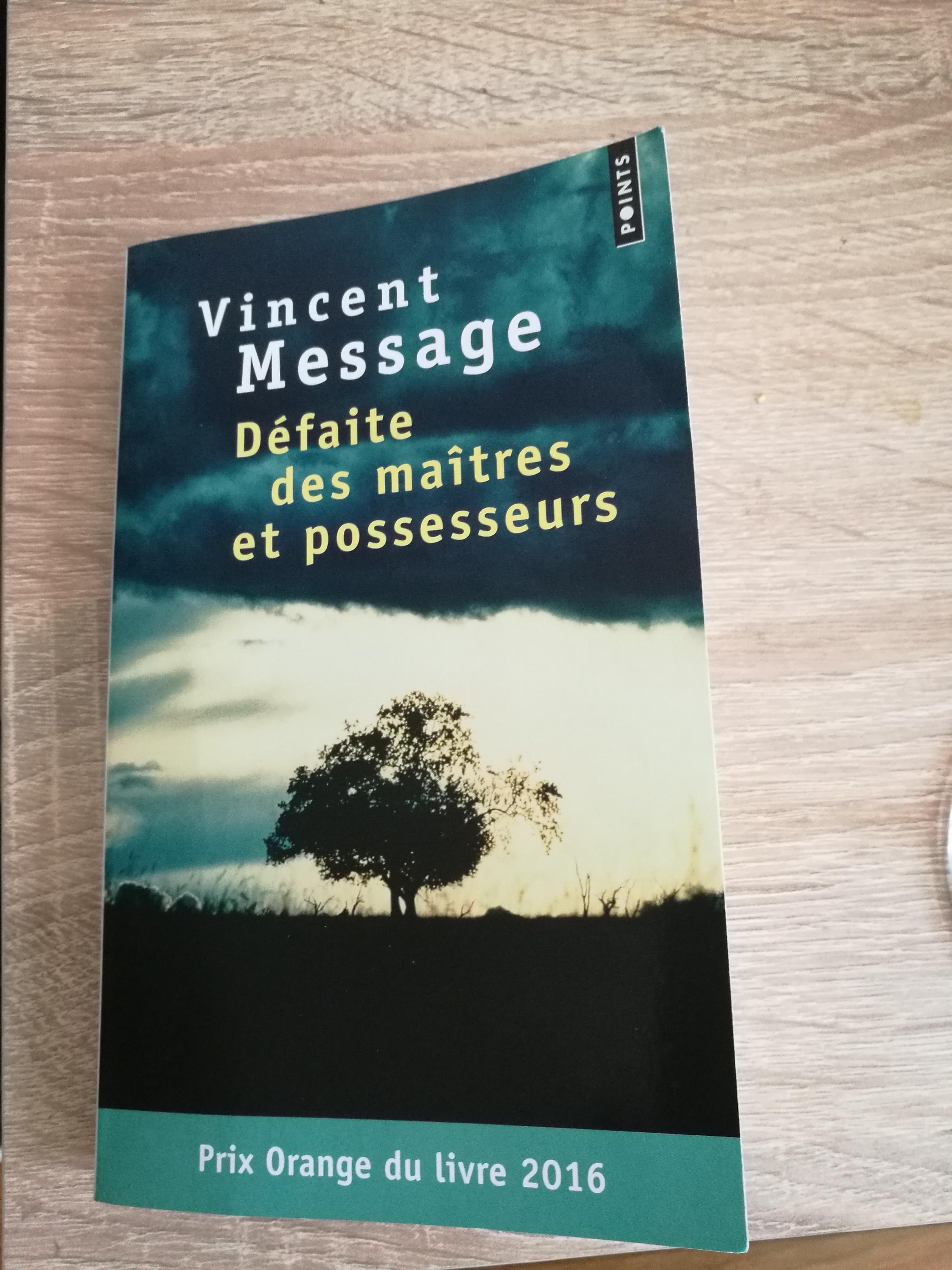 Défaite des maîtres et possesseurs, de Vincent Message